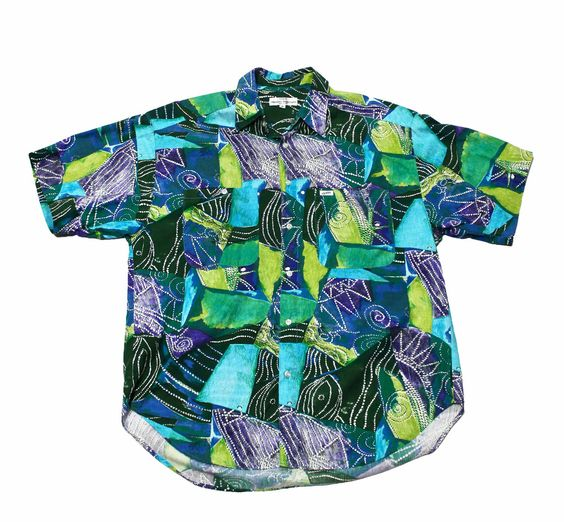 Vintage 90s Guess by Georges Marciano Hawaiian Shirt Mens Size large $30.00