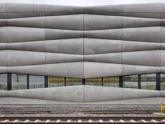 best architects 15 award, EM2N, Erweiterung Serviceanlage, Herdern, Außenansicht Fassade