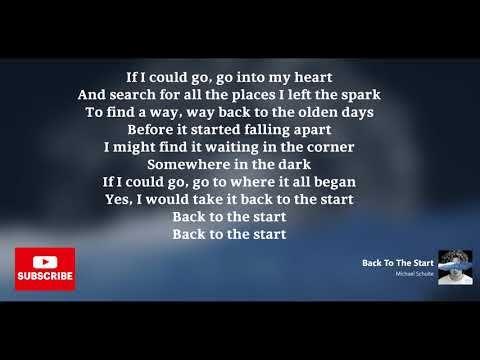 Michael Schulte Back To The Start Lyrics Youtube Lyrics News Songs Michael