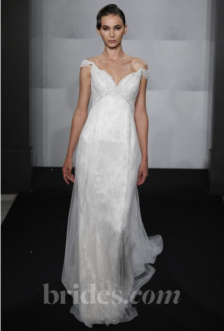 Mark zunino for kleinfeld 2013 lace wedding and sleeve for Kleinfeld wedding dresses with sleeves