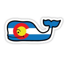 Colorado Themed Vineyard Vines Whale Sticker