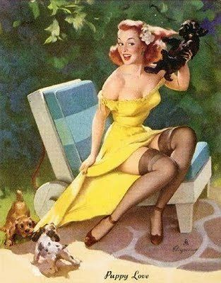 ".Pin-UP girl, for calendars and ""man-caves"""