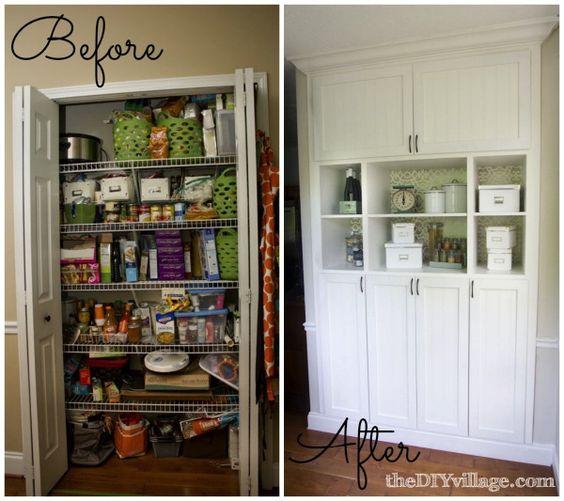 Custom kitchen pantry reveal in kitchen custom kitchens for Diy kitchen storage
