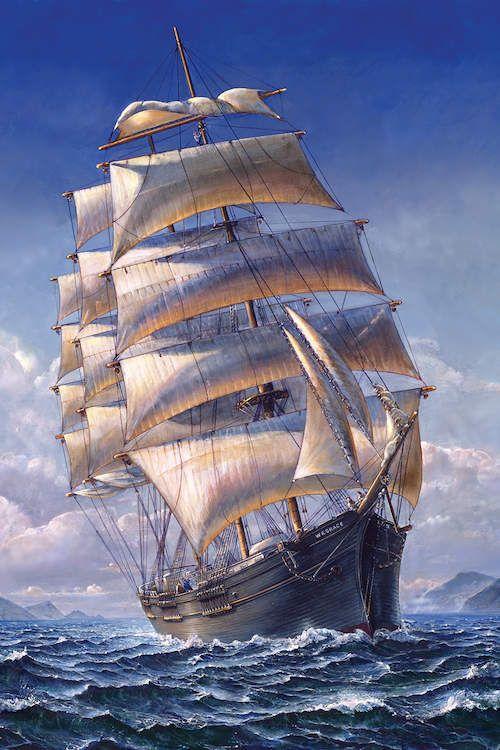 Sailing The Wr Grace Canvas Art Print By John Stephens Icanvas Sailing Old Sailing Ships Sailing Ships