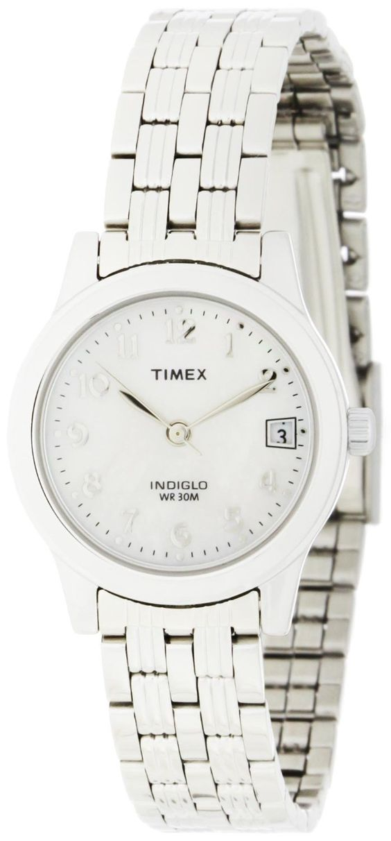 Timex Womens T2N255 Analog Silver-Tone Case and Bracelet Dress ...