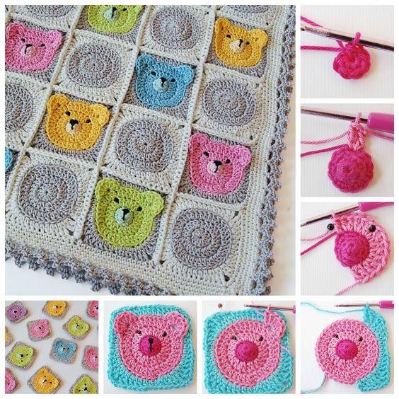 DIY Adorable Crochet Teddy Bear Baby Blanket | iCreativeIdeas.com Follow Us on Facebook --> https://www.facebook.com/icreativeideas