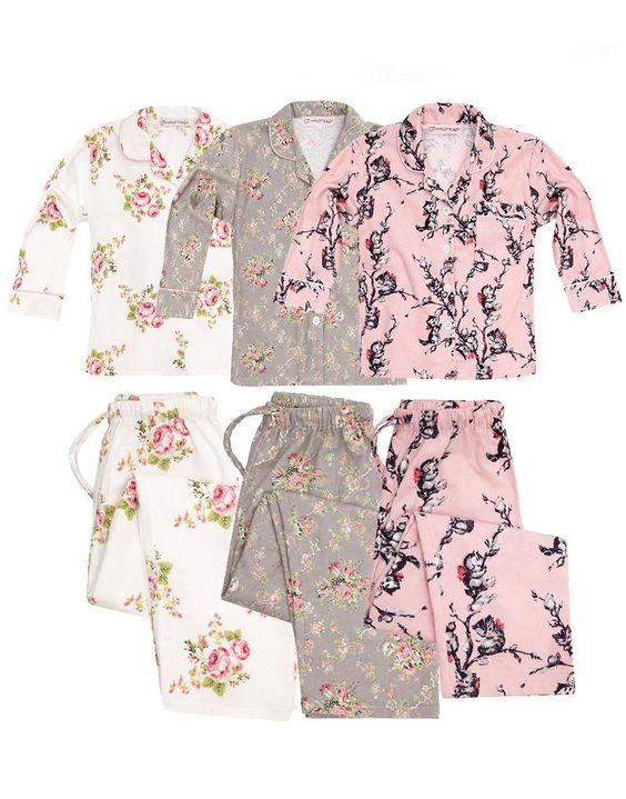 Girls Brushed Cotton Pyjamas - kids Cotton Pajamas - Nightwear ...