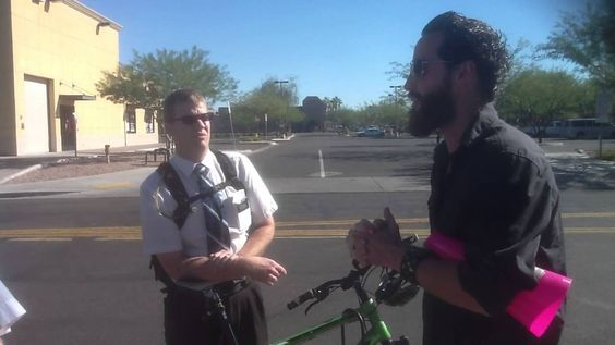 """another video of #missionary pwning. Talking to Mormon Missionaries On The Street. About the Mormon doctrine """"As man is, God once was, as God is, man can become"""" Mormons will tell you they believe there is only one God or they simply """"don't know/ can't know"""" (which is either """"lying for the Lord"""" or honest ignorance of their own church doctrine) in order to gloss over the obvious polytheism. #LDS"""