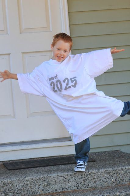 take a picture every year with this shirt on your child until the day they graduate.  so cute.
