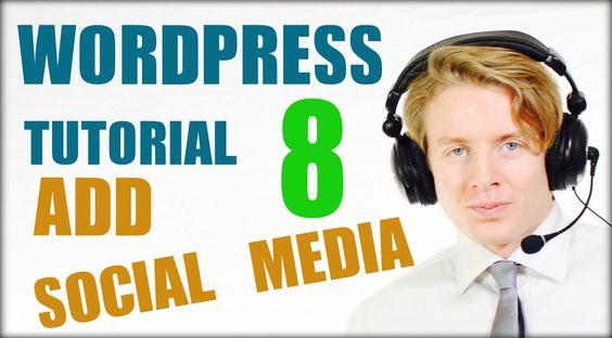 Wordpress tutorial step by step 2016 (Part 8) -  Add Social media