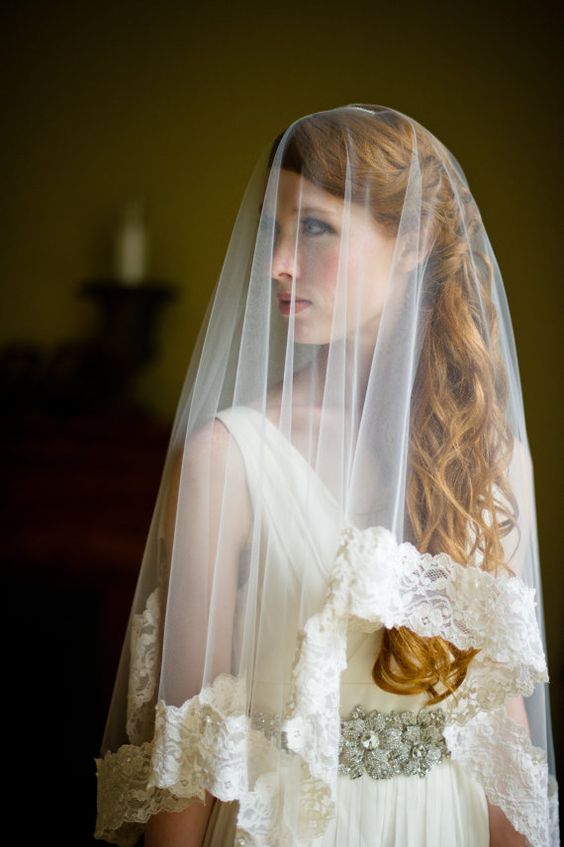 NEW Handmade Heirloom Lace and Tulle Bridal Veil by FineNFleurie, $850.00