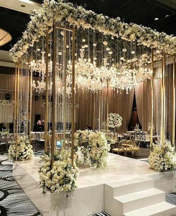 The Secret Of Jenlisa In 2020 Wedding Stage Decorations Wedding Lights Wedding Decorations