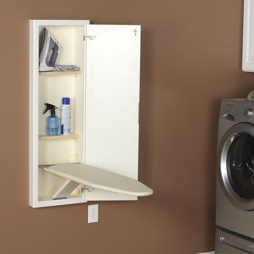 Stowaway Wall Mounted Ironing Board And Cabinet Wall Ironing