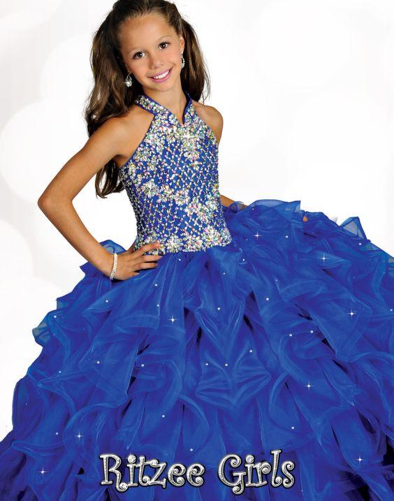 Ritzee Girls 6682 - Pageant Dress For Girls - Kids Pageant Dress ...
