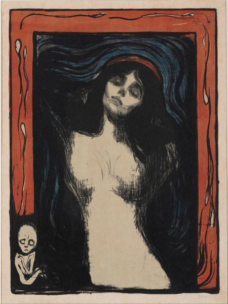 Edvard Munch, Madonna, 1895–1902, Color Lithograph
