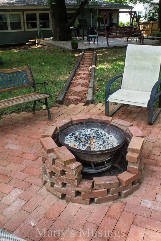 Lovely Photo Firepit Brick Fire Pit Homemade Fire Pit Outdoor Fire Pit