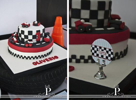 Great race car cake! #cake #racecars