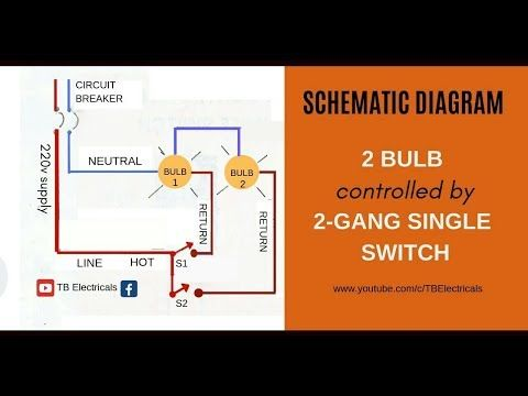 2 Gang Switch Wiring Actual And, 1 Gang 2 Way Switch Wiring Diagram