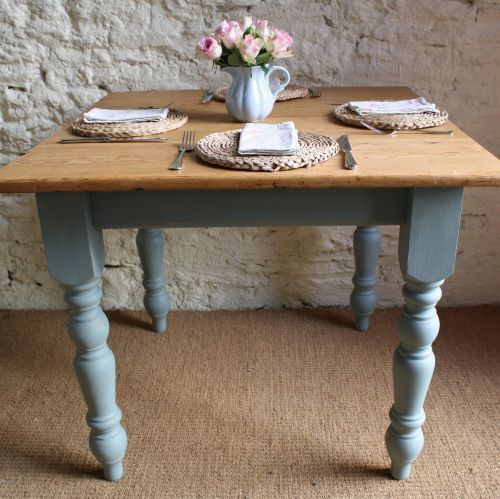 updated painted kitchen table | Home > Furniture > Tables > Square Pine Kitchen Table