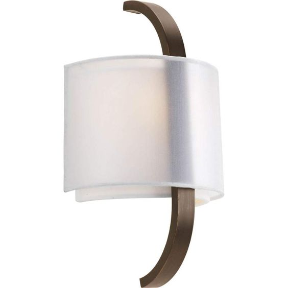 "View the Progress Lighting P7065 Cuddle 1 Light 14"" Tall ADA Compliant Wall Sconce with Dual Shades at LightingDirect.com."