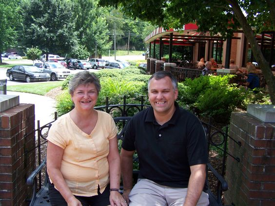 Connie Porcher and I at lunch on July 17, 2012
