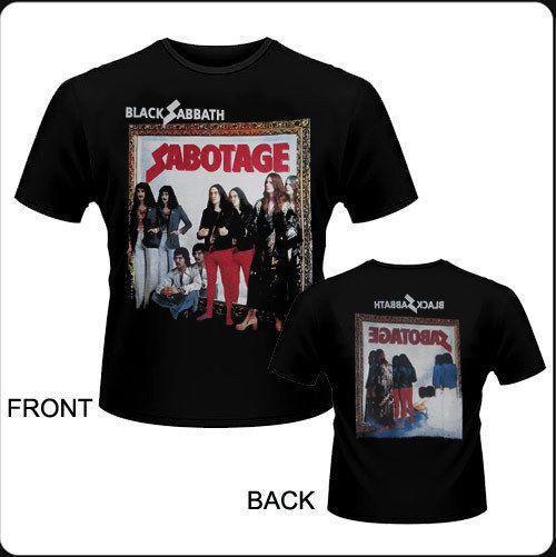 Camiseta de chico M/C Black Sabbath - Sabotage