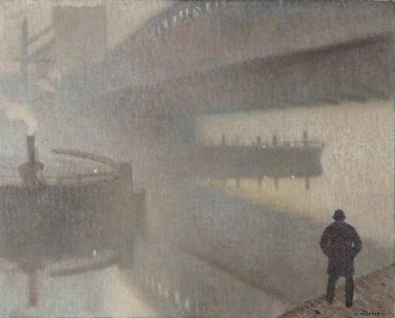 Adolphe Valette, Under Windsor Bridge on the Irwell, Manchester. 1912