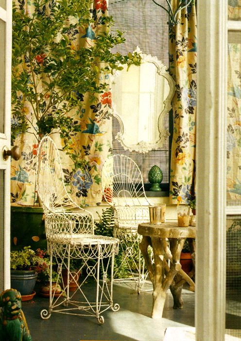 sunlit conservatory