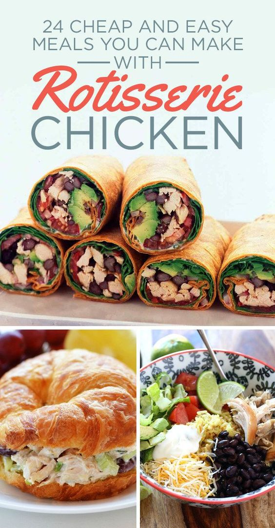 24 easy meals you can make with rotisserie chicken for What can i make for dinner with chicken