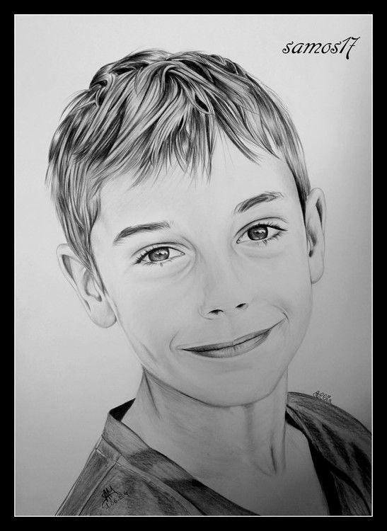 Portrait au crayon noir et blanc samos17 l 39 art du - Dessin noir et blanc ...