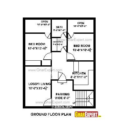 House plan for 28 feet by 35 feet plot plot size 109 for Naksha for house making
