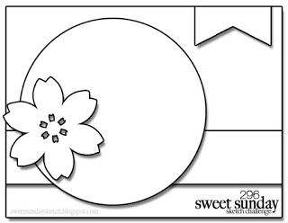 Stampin' Up! Australia: Kylie Bertucci Independent Demonstrator: Sweet Sunday Sketch Challenge - Cottage Garden