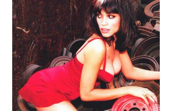 rosario-dawson-red-dress-panty-showing-hot