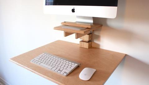 Wall Mounted Standing Desks Gereghty Desk Co Imac Desk Imac Desk Setup Standing Desk