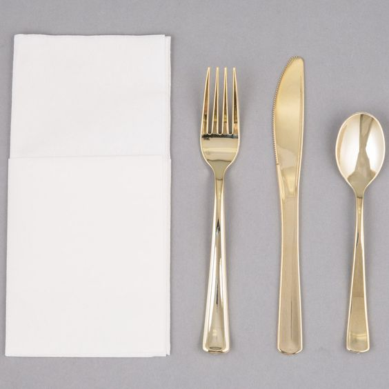 Cutlery Set Gold Cutlery And Heavy Weights On Pinterest