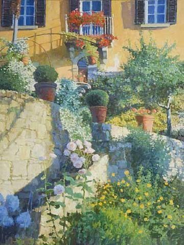 nicholas verrall, Terraced Garden, Tuscany