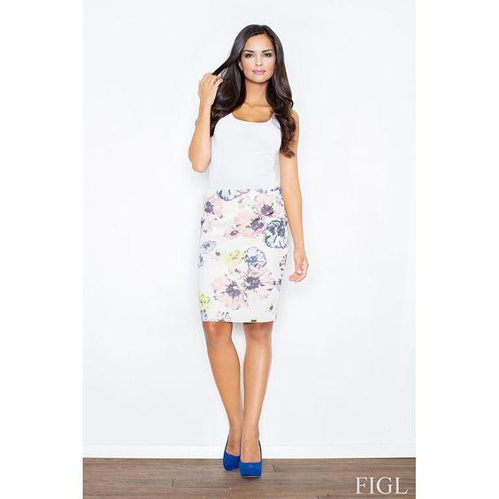 Falda lapíz con estampado floral