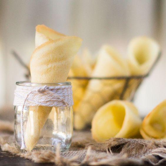 Cómo preparar cucuruchos o conos caseros para helados con Thermomix