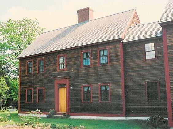 10 Delightful Salt Box Colonial House Plans 40847 Outdoor House Paint Saltbox Houses Colonial House