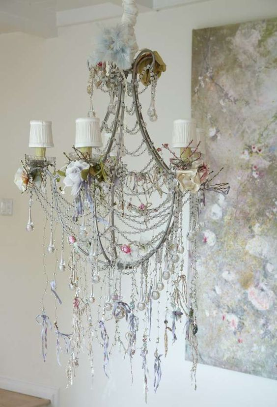 shabby chic  shabby and chandeliers on pinterest