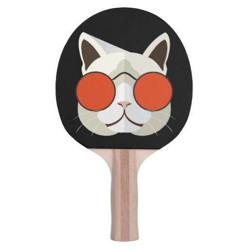 Cool Cat in Sunglasses Ping-Pong Paddle