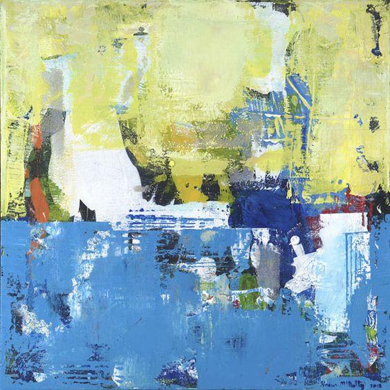 "Parakeet by Shawn McNulty. 30x30"" ©2012    ----BTW, Please Visit:  http://artcaffeine.imobileappsys.com"