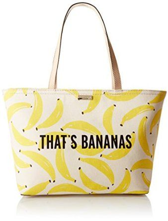 Amazon.com: kate spade new york Flights Of Fancy Thats Bananas Francis Bag, Yellow/Multi, One Size: Clothing: