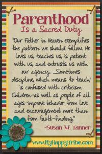 September 2016, Parenthood Is a Sacred Duty