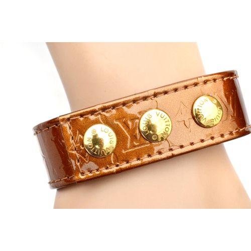Louis Vuitton Bronze Vernis Snap Button Bracelet