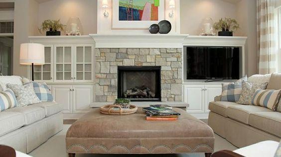 manteau de cheminee decor photo | Le manteau de cheminée en pierres