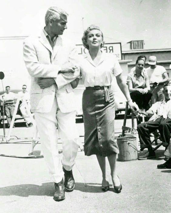 Jeff Chandler and Lana Turner