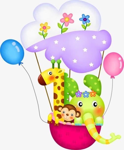 Animal O Balao Balao De Ar Quente Imagem Png E Psd Para Download Gratuito Hot Air Balloon Clipart Balloon Clipart Animal Clipart