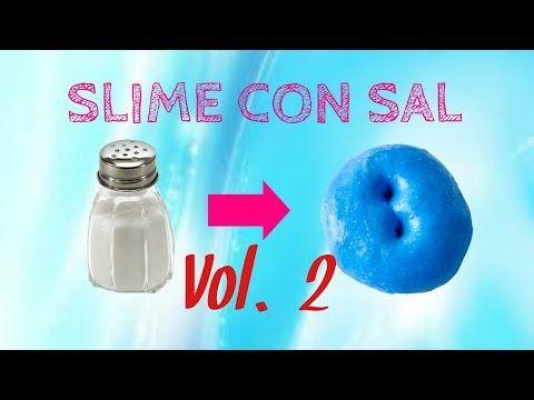 Haz Slime Solo Con Pegamento Y Sal Slime Cristal