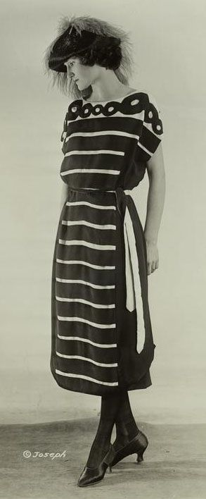 Black and White Photo of a Dress from 1921